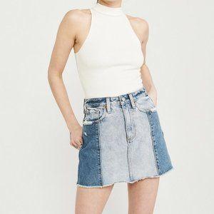 Abercrombie & Fitch Two Tone Denim Skirt